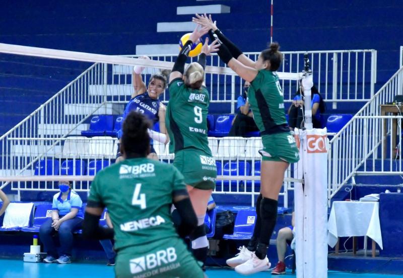 Brasília Vôlei abre quarta rodada do returno com vitória sobre São Caetano