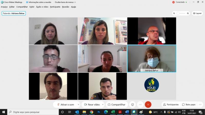 CBV e Comissões Nacionais de Atletas fazem mais um encontro virtual