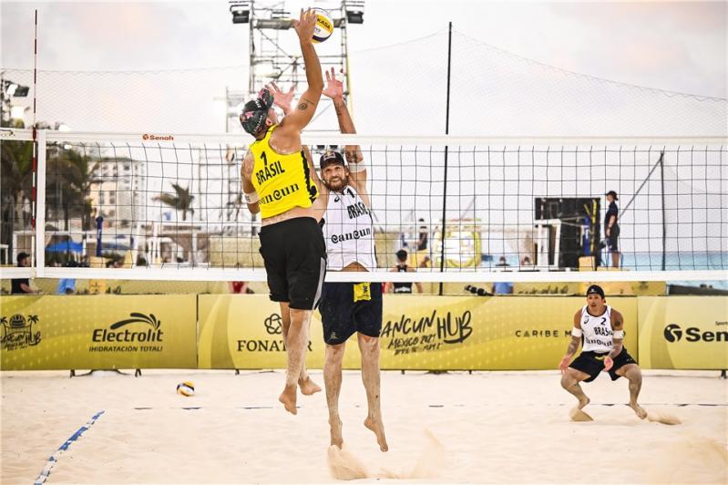 Duplas brasileiras começam com saldo positivo na segunda parada em Cancún