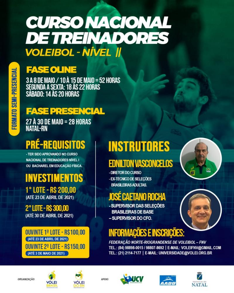 Federação Norte-riograndense de Voleibol realiza Curso Nacional de Treinadores
