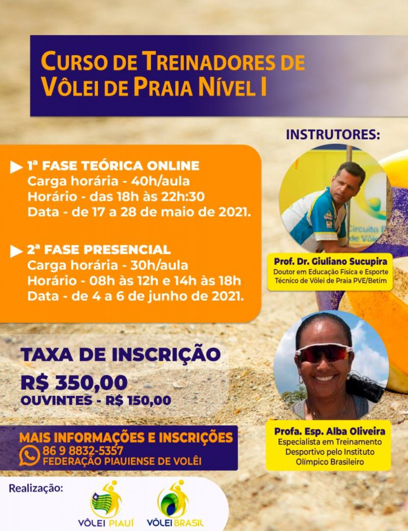 Federação Piauiense realiza Curso de Vôlei de Praia