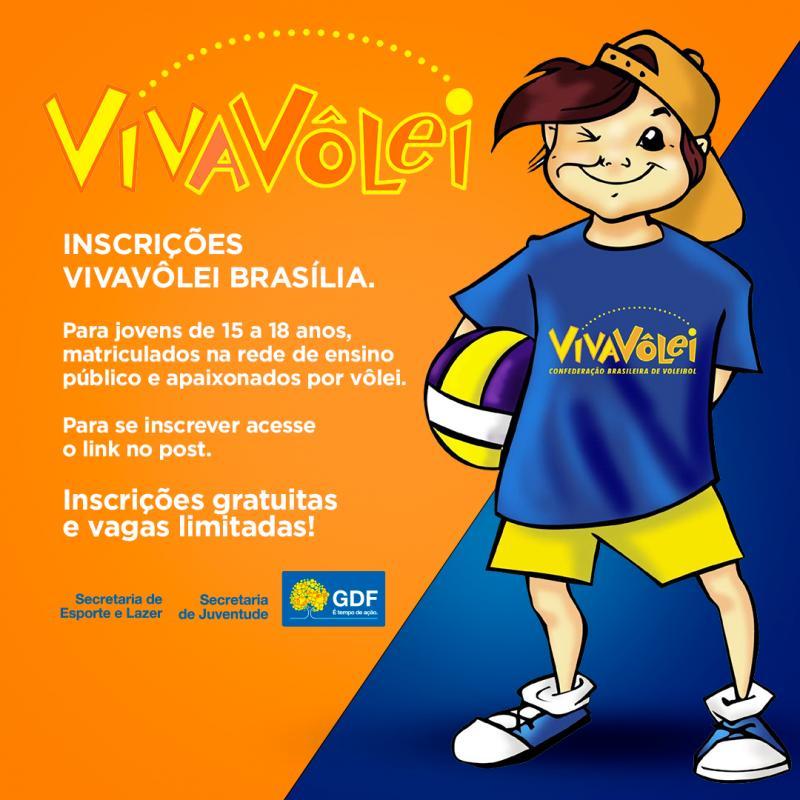 O VivaVôlei chega a Brasília. Faça a sua inscrição.