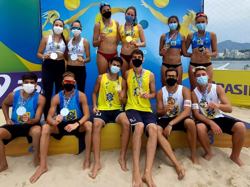 Rio de Janeiro faz dobradinha no sub-19 com Nina/Carolina e Lucas/João Pedro