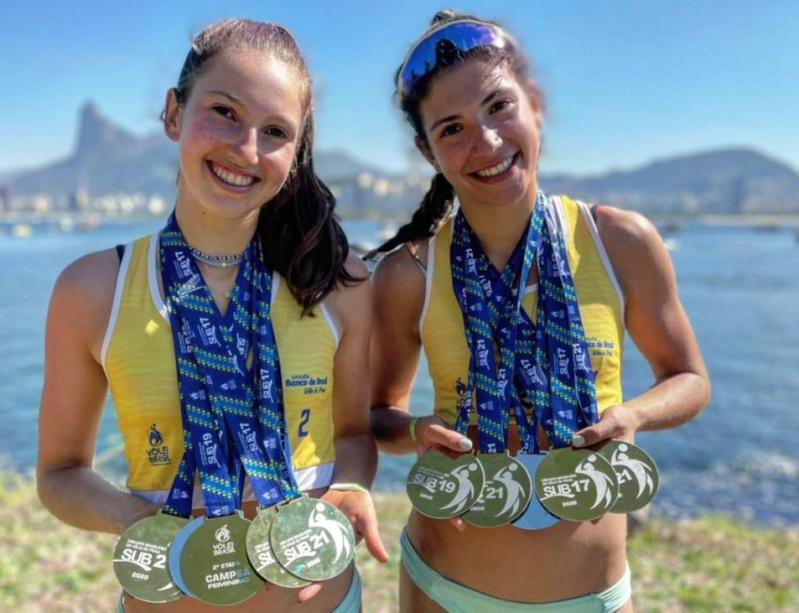 Talentos da base, Nina e Carolina mostram futuro promissor com marca impressionante