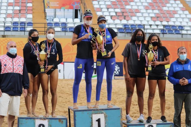 Thâmela e Vitória conquistam ouro, e Brasil garante vagas para Pan sub-23 nos dois naipes